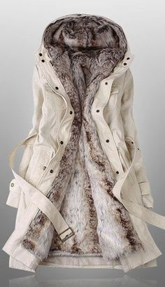LOVE this! White Comfy Fur Jacket