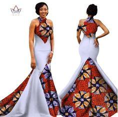 Mermaid African Dresses New Arrival Sleeveless Floor Length Women Formal Occasion Dress Africa Evening Gowns for Women African Formal Dress, African Prom Dresses, African Traditional Dresses, Latest African Fashion Dresses, African Dress, African Dashiki, Ankara Gowns, African Wedding Attire, Models