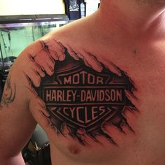 25 Adventurous Harley Davidson Tattoos Check more at http://tattoo-journal.com/25-adventurous-harley-davidson-tattoos/