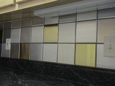"6"" x 6"" Brushed Aluminum Tiles, 6"" x 6"" Brushed Brass Tiles"