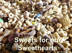 White Chocolate Snack Little MixD Ingredients 5 cups Cheerios 5 cups Corn Chex 2 cups salted peanuts 1 pound chocolate M&M's. Valentines Weekend, Chocolate Snacks, Chocolate Fountains, White Chocolate, Type 1, Theater, Stuffed Mushrooms, Sweets, Homemade
