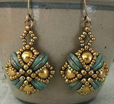 Earrings For Women Beaded Earrings Patterns, Beaded Jewelry Designs, Seed Bead Jewelry, Jewelry Patterns, Bead Earrings, Beading Patterns, Beaded Bracelets, Seed Beads, Handmade Jewellery