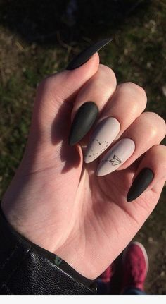 Gorgeous New Nail Designs Ideas to Try Nail De. - Gorgeous New Nail Designs Ideas to Try Nail Design - Best Acrylic Nails, Matte Nails, Pink Nails, My Nails, Black Nails, Pink Nail Designs, Acrylic Nail Designs, Nails Design, Dream Nails