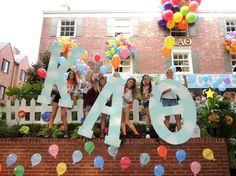 Kappa Alpha Theta, up themed bid day. so cute