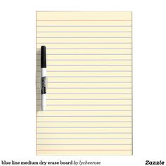 blue line medium dry erase board