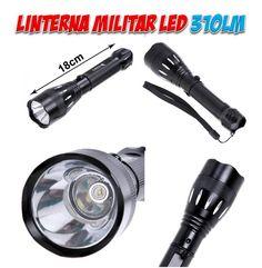 Linternas militares LED CREE tacticas para uso policial. Material y equipo de deportes para caza, pesca, montaña, camping y supervivencia.