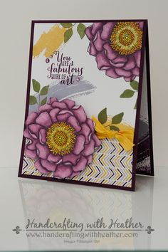 Stampin' Up! Blended Bloom & Work of Art with Moonlight DSP