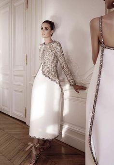 'The Now Grand Couture' ~ Chanel Fall 2014 ~ Yelena Yemchuk for Vogue Italia Alta Moda, September 2014