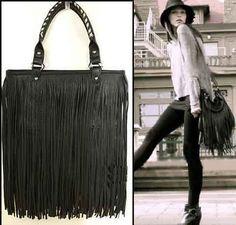 Fringe leather bag. Must have!!