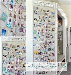 Instagram Photo Wall Display  Image via: thehouseofsmiths