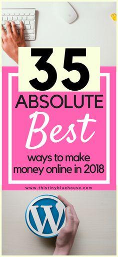 35 Side Hustles - LEGIT ways to make money online #sidehustles #blogging #makemoneyonline