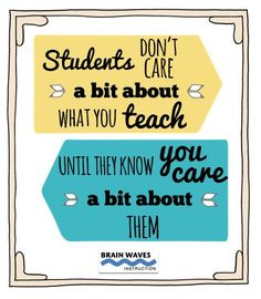Check out 10 simple ways to show students that you care!