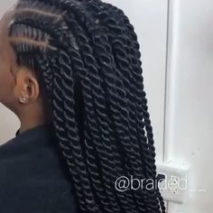 Browse through our collection of trending braided hairstyles in 2020 featuring this braided updo and Senegalese twists hairstyle including price, duration and type of hair used below. # cornrows Braids videos Cornrows into Senegalese twists Senegalese Twist Hairstyles, Twist Braid Hairstyles, Braided Hairstyles For Black Women, African Braids Hairstyles, Protective Hairstyles, Senegalese Twists, Protective Styles, Braids Cornrows, African Hair Braiding