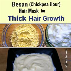 <thrive_headline click / Chickpea flour for Thick Hair growth How to use for Glowing Skin</thrive_headline> tricks and tips Hair Remedies For Growth, Hair Growth Tips, Hair Care Tips, Hair Tips, Hair Hacks, Stop Hair Loss, Prevent Hair Loss, Glowing Skin, Healthy Hair