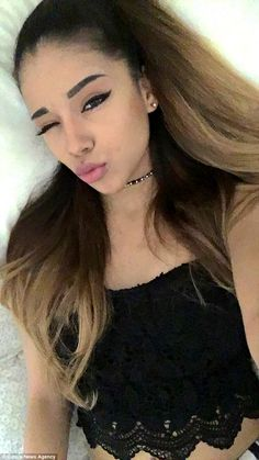 Virginia... Jacky Melissa Vasquez, 20, from Virginia, is regularly mistaken for Ariana Grande (pictured) The famous singer even followed her on Instagram and commented on their similarities.