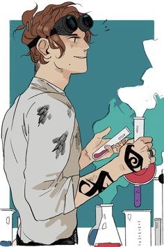 The July piece of flash fiction about Chain of Gold is here, this one focusing on Christopher Lightwood, Henry Fairchild, and science! (Chris isn't wearing his glasses in the illustrated scene by Cassandra Jean because they don't fit under the goggles! Cassandra Jean, Cassandra Clare Books, John Snow, Idris Brasil, Good Books, My Books, Jace Lightwood, The Dark Artifices, Clace
