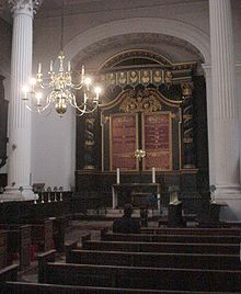 Inside Nicholas Hawksmoor's St Mary Woolnoth, the City, London