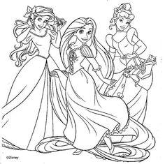 Dibujos De Princesas Para Imprimir Y Colorear Gratis