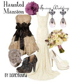 Haunted Mansion Wedding by Disney Bound  <3 the dress