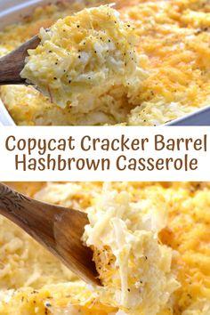Easy Hashbrown Casserole Recipe, Cracker Barrel Hashbrown Casserole, Hashbrown Breakfast Casserole, Hash Brown Casserole, Easy Casserole Recipes, Cracker Barrel Cheesy Potatoes, Potluck Recipes, Dinner Recipes, Cooking Recipes