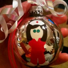 This ornament was made by my very crafty mother :)