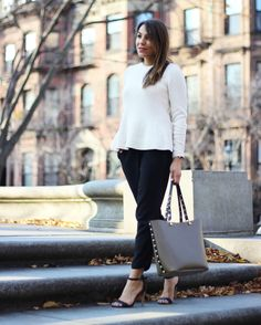 I've been rocking this Vince Camuto studded tote non-stop lately. It's big enough to fit my iPad, bottle of water, and a pair of flats making it the perfect bag for the girl on the go! - @mystylewire