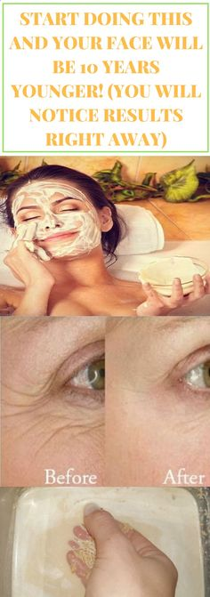 Start Doing This And Your Face Will Be 10 Years Younger! (You Will Notice Result. - Start Doing This And Your Face Will Be 10 Years Younger! (You Will Notice Results Right Away) Homemade Facial Mask, Homemade Facials, Homemade Wipes, Makeup Tricks, Makeup Ideas, Diy Beauty, Beauty Hacks, Beauty Ideas, Beauty Skin