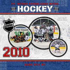 Hockey Scrap Page designed by: Roxanne Buchholz  12x12 Scrap Page