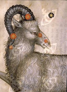 """Illustration from a copy of Al-Sufi's """"The Book of Fixed Stars"""". This copy was made in Prague in the 15th C and is known as """"Catalogus Stellarum Fixarum"""", Codex DA 11.13. Detail of Aries. Country of Origin: Persia Culture: Islamic. Date/Period: 15th C AD. Credit Line: Werner Forman Archive/ Royal Canonry of Premonstratensiens, Strahov, Prague . Location: 23"""