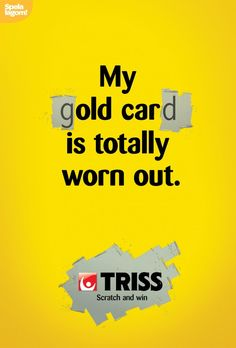 Triss scratch-off card: Suddenly, It Happens | #ads #adv #marketing #creative #publicité #print #poster #advertising #campaign < repinned by www.BlickeDeeler.de | Have a look on www.Printwerbung-Hamburg.de