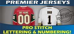 Premier Replica Jerseys - Pro-Stitch & Ready In 5-7 Days! NHL Reebok Hockey Jerseys. Best Gift Ideas! Cool Gift Ideas! Mom, Dad, Family, Friends | Minnesota Wild | Pittsburgh Penguins |