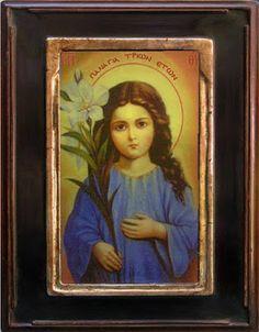 Πνευματικοί Λόγοι: Εικόνα της Παναγίας Τριών Ετών (Εισόδια Θεοτόκου) Mona Lisa, Christian, Artwork, Blog, Painting, Work Of Art, Auguste Rodin Artwork, Painting Art, Artworks
