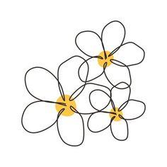 Minimal Drawings, Easy Drawings, Tattoo Drawings, Tattoo Sketches, Simple Line Drawings, Doodle Drawings, Flower Art Drawing, Hawaii Flowers Drawing, Line Art Flowers