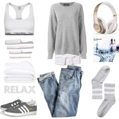 Sunday Mood by fashionlandscape on Polyvore featuring Mode, Dolce&Gabbana, Helmut Lang, J.Crew, Calvin Klein Underwear, Monki, adidas Originals, Beats by Dr. Dre and Frette