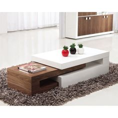 Nora Extending Coffee Table - Wooden Coffee Table, Storage, Oak, Furnitureinfashion UK