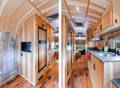 This 1954 Airstream Flying Cloud trailer was meticulously restored by Timeless Travel Trailers. The Airstream trailer was transported to the company's
