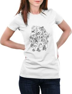 Buy Funny & Cool T Shirts for Women Online India | Funny Faces Graphic Illustration T-Shirt | PosterGuy