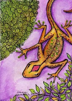 Mardi Gras Lizard