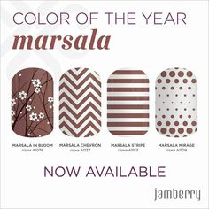 Jamberry Color of the Year 2015 - Marsala order yours now at https://susanl.jamberrynails.net
