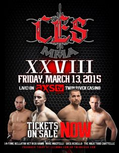 """LINCOLN, R.I. (Feb. 17th, 2015) -- Fourteen-time Bellator vet and 2004 U.S. Judo Olympian Rick Hawn (19-4) makes his CES MMA debut against Derek Loffer (9-2) in the main event of """"CES MMA XXVIII,"""" ..."""