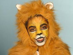 Lion Makeup... Turn your cub into a roaring lion for Halloween with our easy-to-follow makeup tutorial. Learn how to replicate fur with face paint.