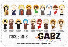 Pack Saints Girls Boys Communion Baptism Clipart Gabz