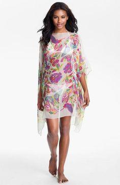 Nordstrom Floral Silk Caftan #Nordstrom @Nordstrom via @taggto