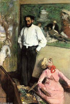 """Portrait of Henri Michel-Levy""  Edgar Degas"