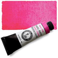 Opera Pink  $10.04  A primary magenta with a hint of fluorescent pink granulation   ry mixing Opera Pink with our New Gamboge for fiery oranges or with an Indanthrone Blue for stunning violets and glowing purples.  (light rating is Fugitive)