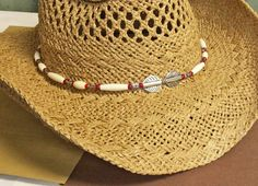 Hat Band  Beaded Hatband   Beaded Hat Band by LaBellaBottega13
