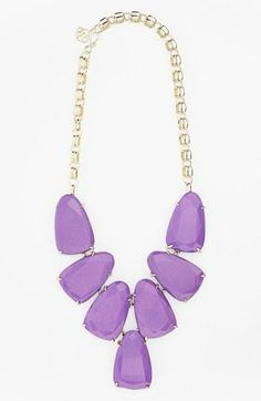 Lavender: This necklace is a bit of an investment, but it can single-handedley pull a look together.