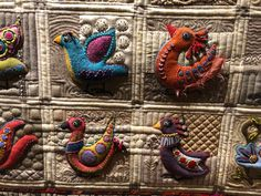Sue Spargo Bird Dance Custom quilted #suespargo #bird dance Custom Quilts, Quail, Dance, Bird, Dancing, Quails, Birds