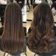 Straight or wavy??  The perfect bronde balayage! Her natural base was a medium brown and we gave her this stunning color to enhance with a maintenance-free grow out! What do you think?