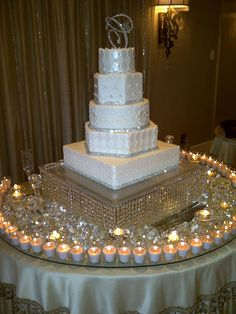 Like the candles around the cake for a more dramatic look!